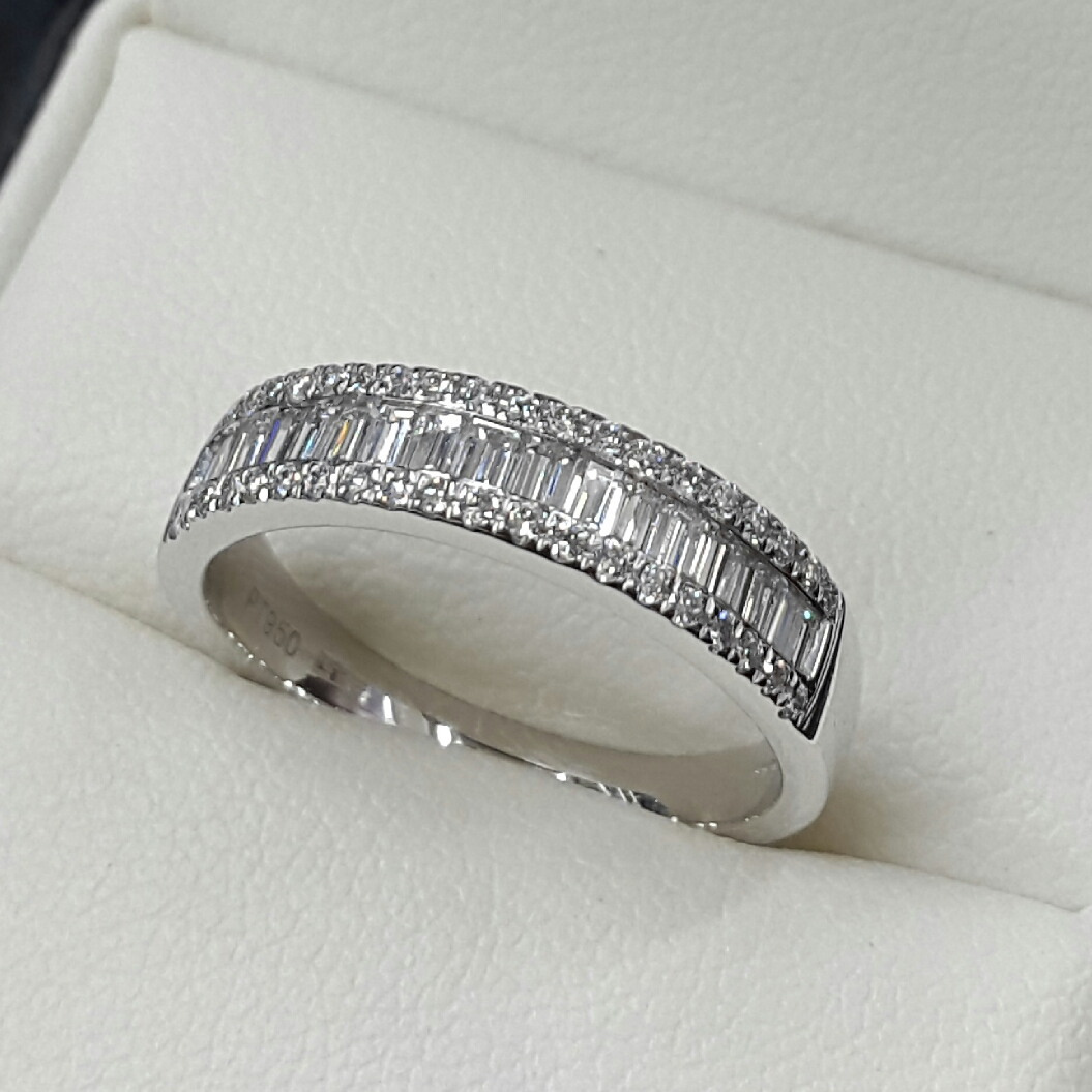 Diamond Set Wedding Eternity Rings