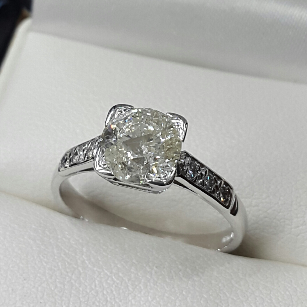 owned rings previously for pre preowned free diamond wedding